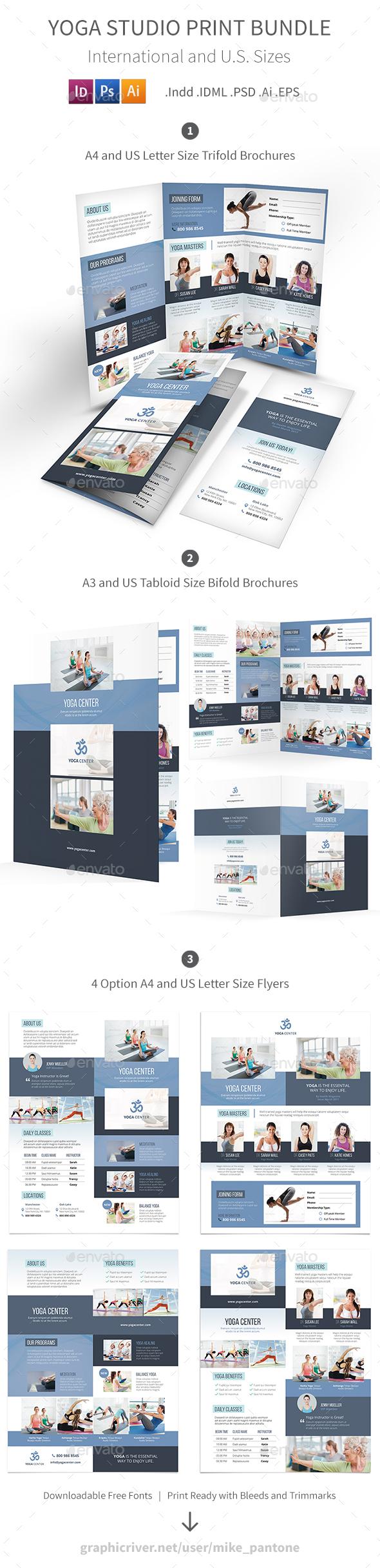 Yoga Studio Print Bundle - Informational Brochures