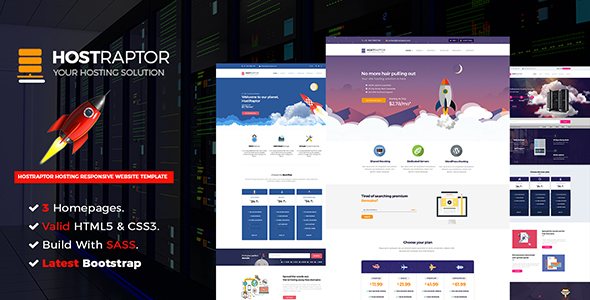 Hostraptor – Hosting Responsive Website Template