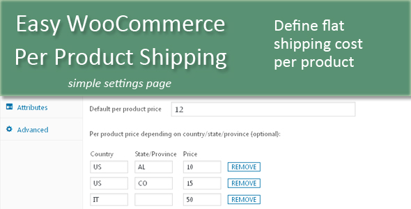 Easy WooCommerce Per Product Shipping - CodeCanyon Item for Sale