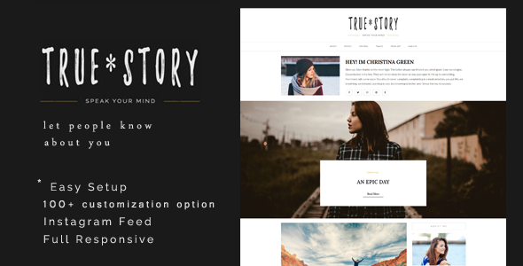 True Story – A Responsive Personal Blog Theme