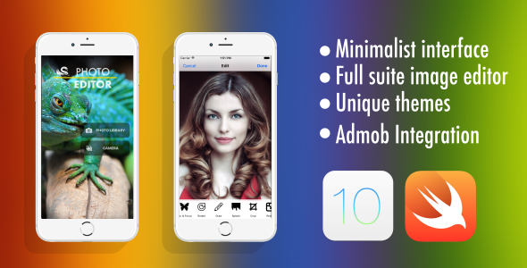 Photo Editor - Swift 3 - Admob - Universal - CodeCanyon Item for Sale