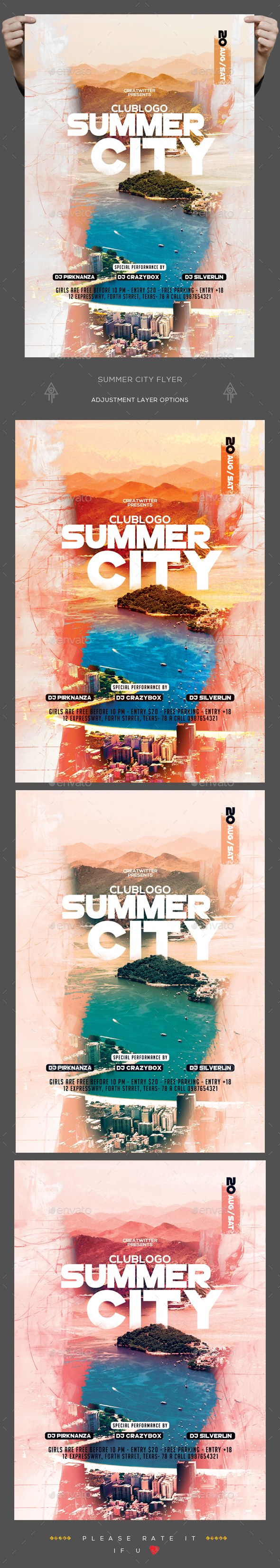 Summer City Flyer - Clubs & Parties Events