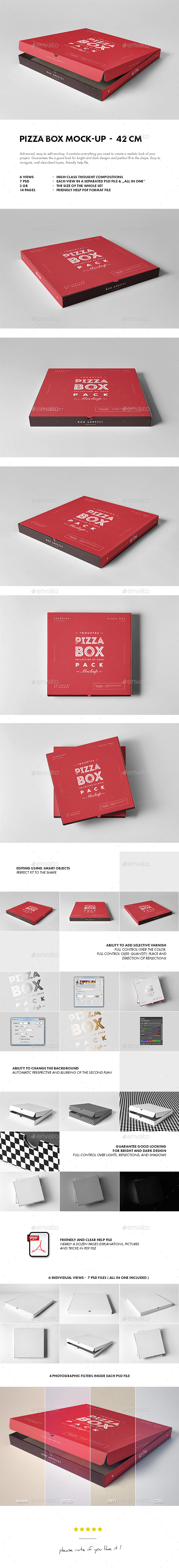 42 Pizza Box Mock - Food and Drink Packaging