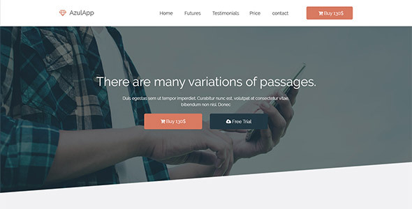 Azulapp – Creative HTML Landing Page Template RTL Support