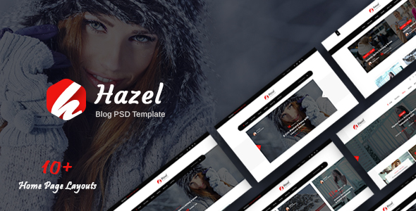 Hazel - Personal Blog PSD Template - Personal PSD Templates