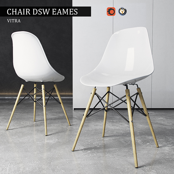 Chair Vitra DSW Eames Plastic Side - 3DOcean Item for Sale