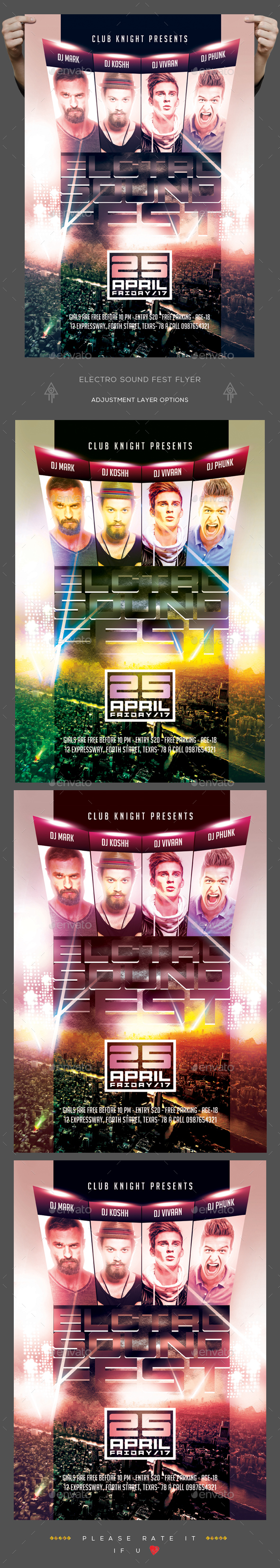 Electro Sound Fest Flyer - Clubs & Parties Events