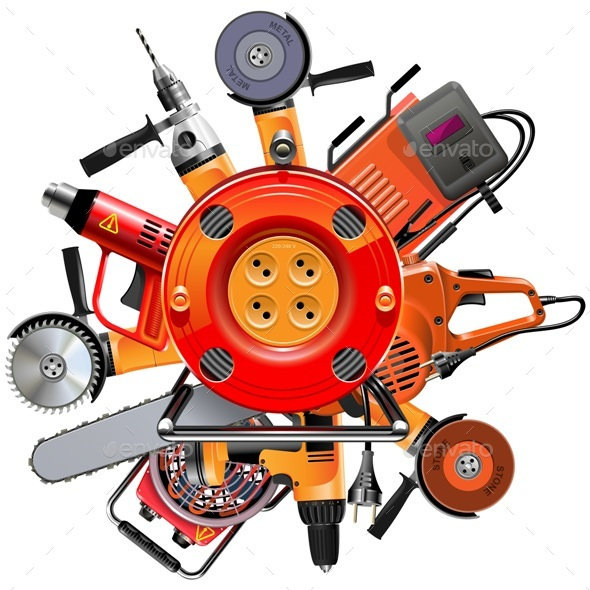 Vector Cable Reel with Power Tools - Industries Business