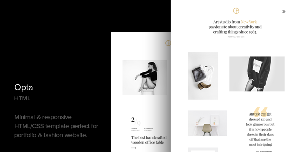 Opta – Minimal Portfolio and Photography HTML Template