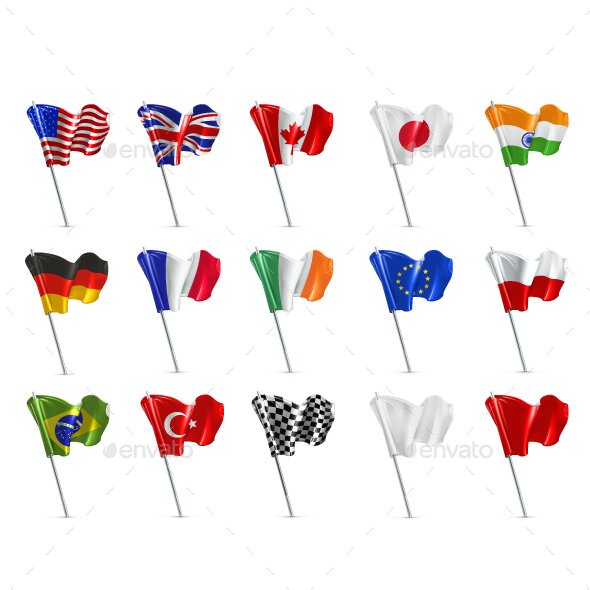 Various Flags - Decorative Symbols Decorative