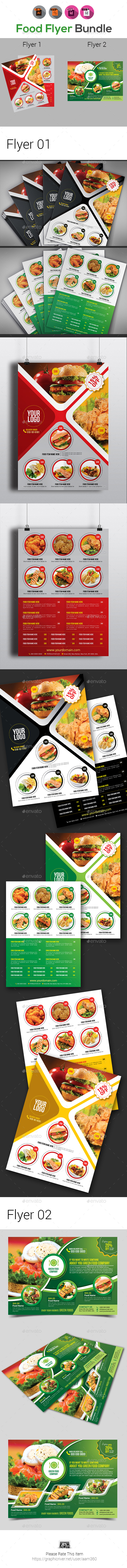 Food Menu or Food Flyer Bundle - Restaurant Flyers