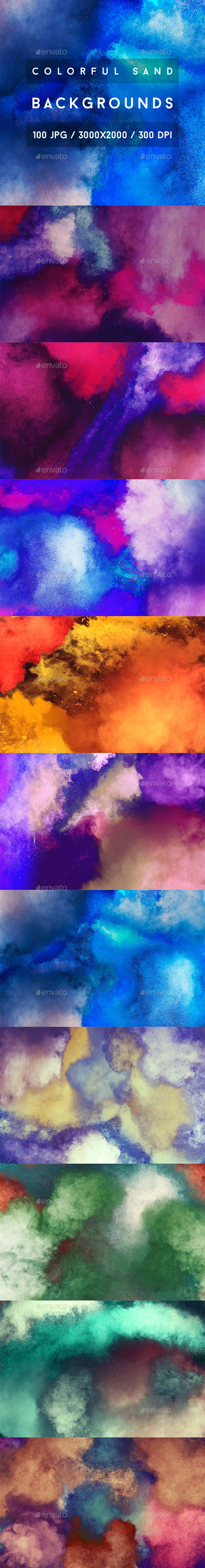 100 Colorful Sand Backgrounds - Abstract Backgrounds