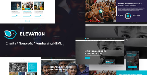 ELEVATION – Charity / Nonprofit / Fundraising HTML5 Template