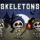 Skeletons 2D Game Character Sprite Sheet - GraphicRiver Item for Sale
