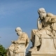 Ancient Marble Statues of the Greek Philosophers Plato and Socrates - VideoHive Item for Sale