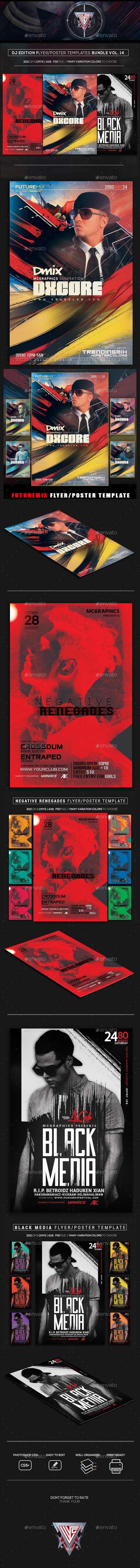 Guest DJ Party Flyer/Poster Bundle Vol. 14 - Clubs & Parties Events