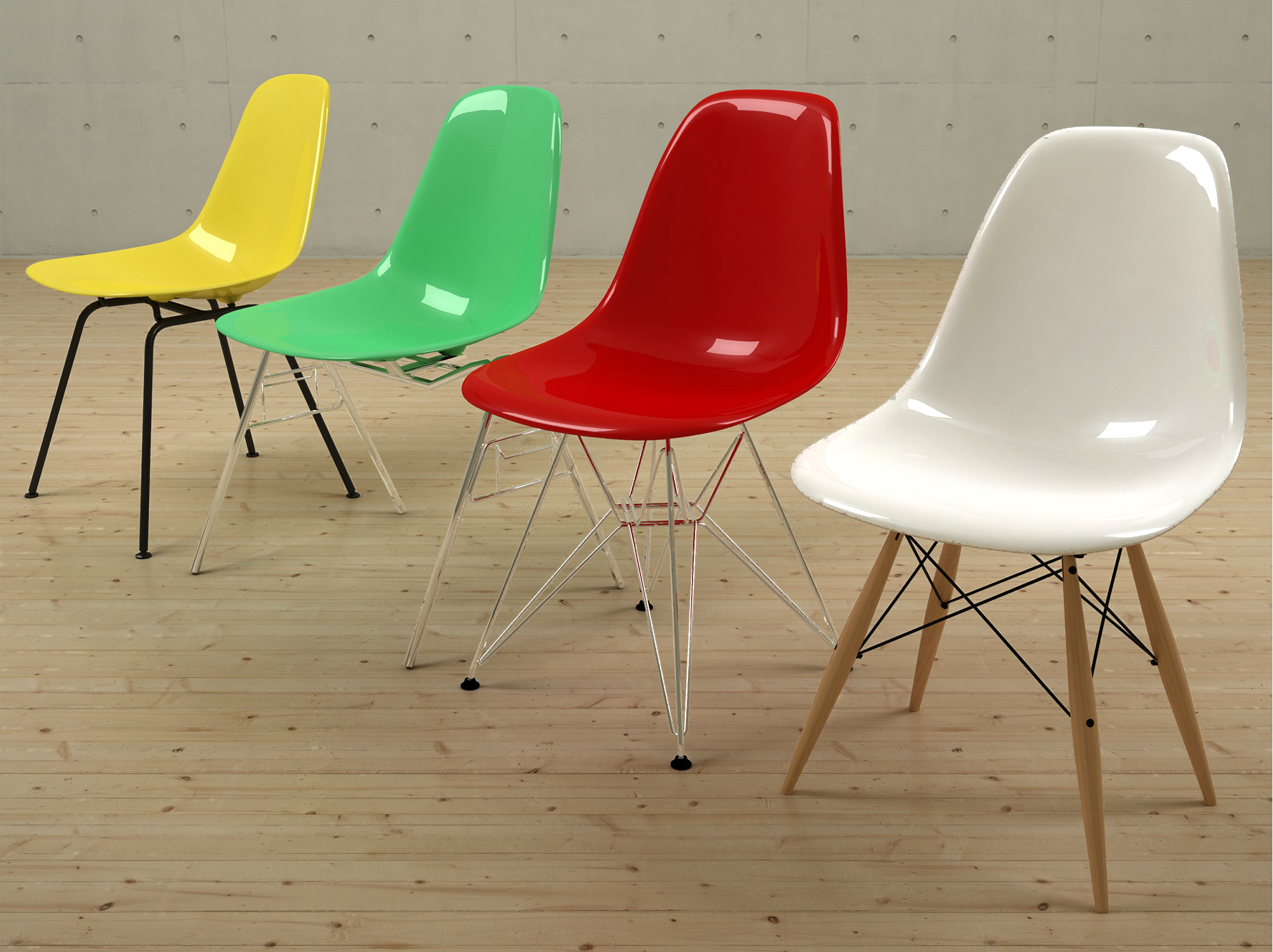 Eames Plastic Chairs DSW DSX DSR DSS by NOBRANDSTUDIO