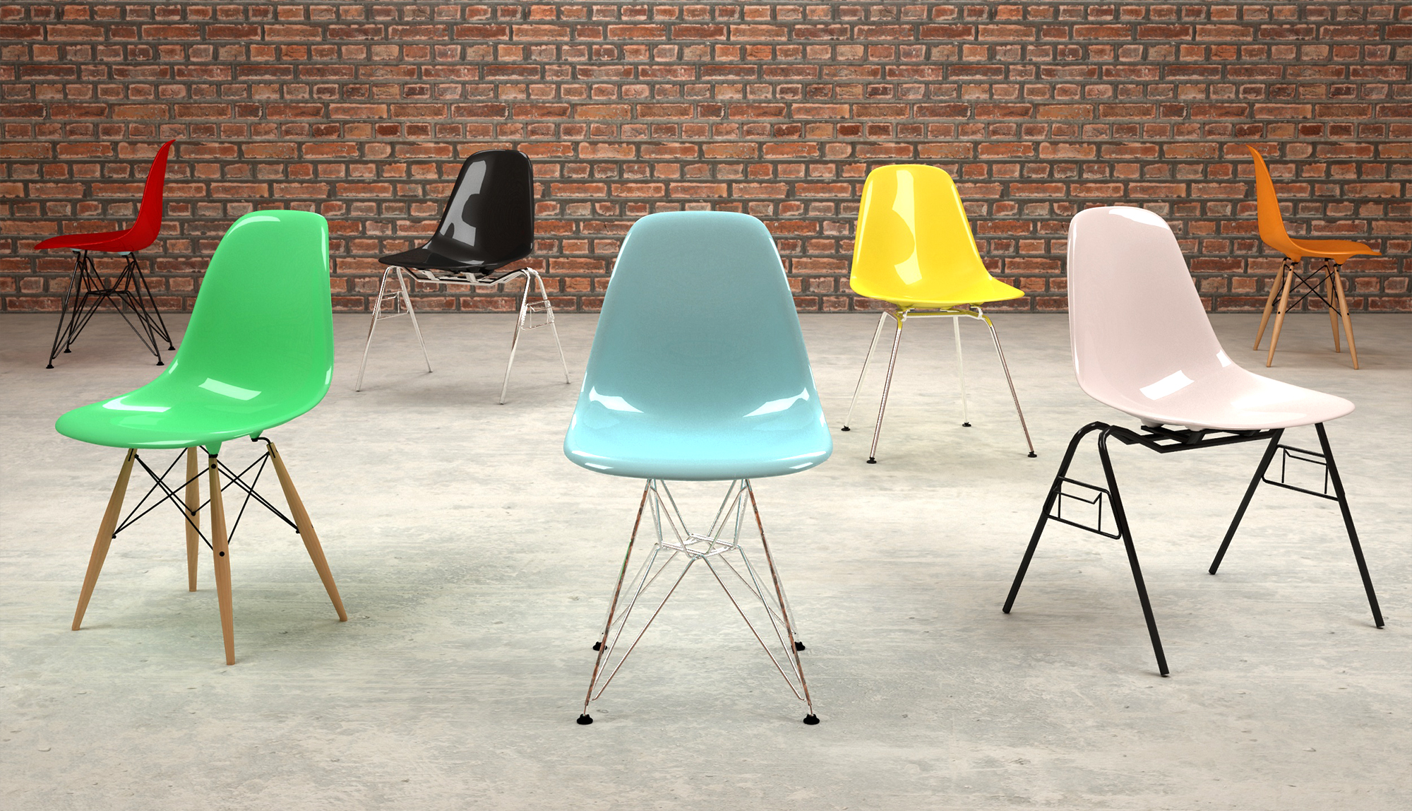 Eames plastic chair cool eames plastic chair with eames for Cheap eames style chair