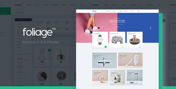 Pav Foliage – Advanced Opencart theme for Furniture