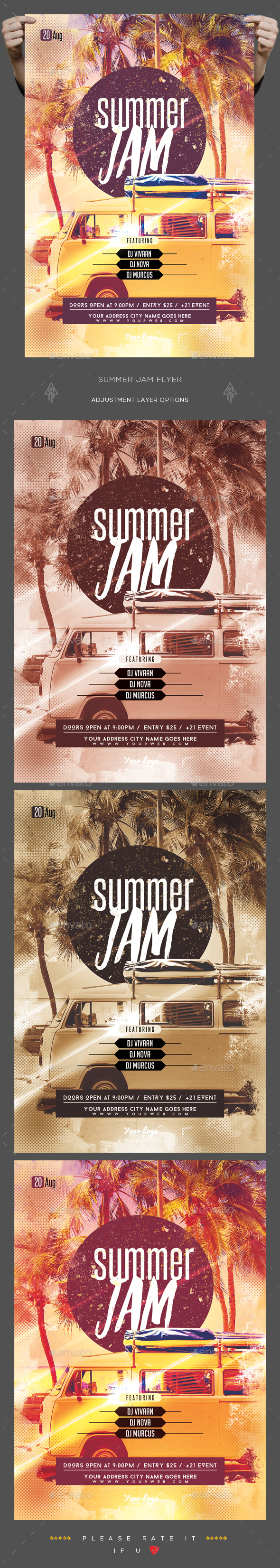 Summer Jam Flyer - Clubs & Parties Events