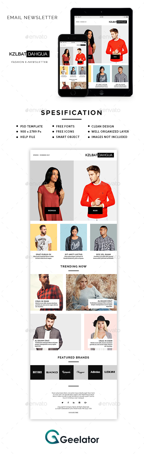 Fashion E-Newsletter - E-newsletters Web Elements