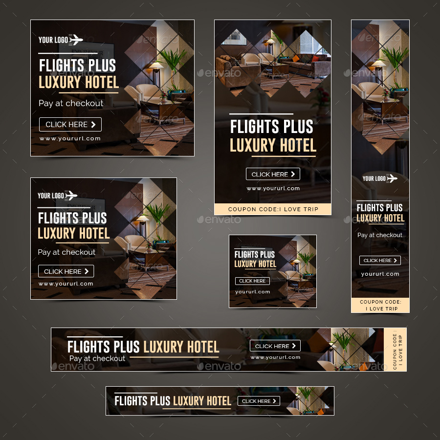 Luxury Hotel Banners By Hyov Graphicriver