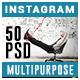 Multipurpose Instagram Templates - 50 Designs - GraphicRiver Item for Sale