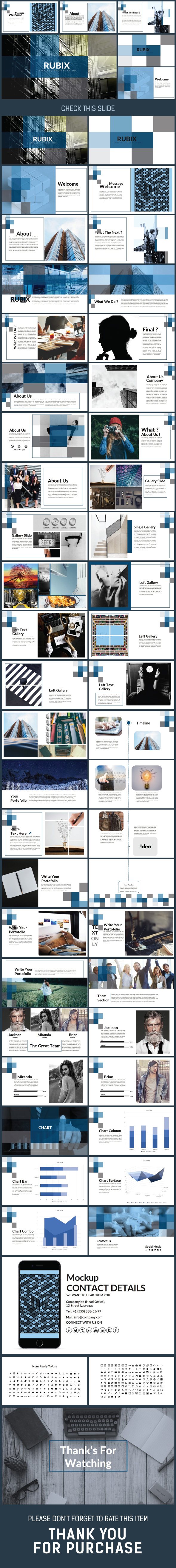 RUBIX Presentation Keynote Template - Creative Keynote Templates