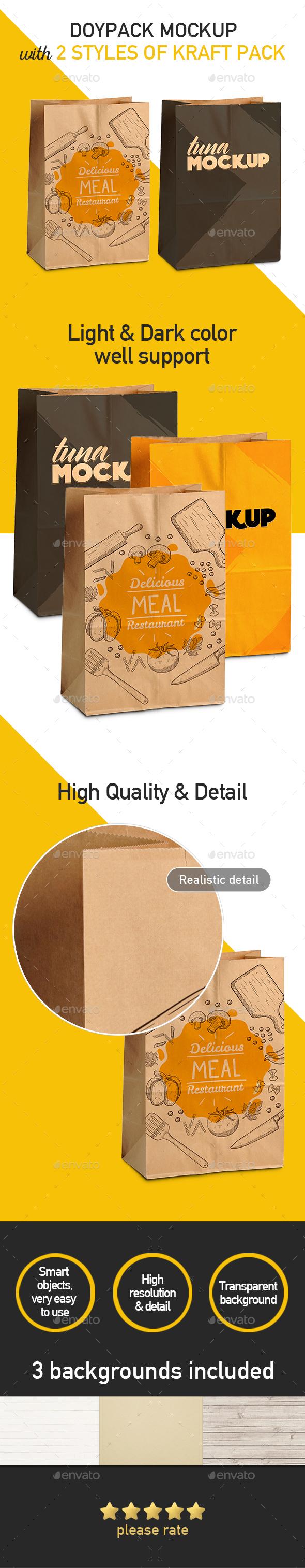 Kraft Paper Bag Mockup - Product Mock-Ups Graphics