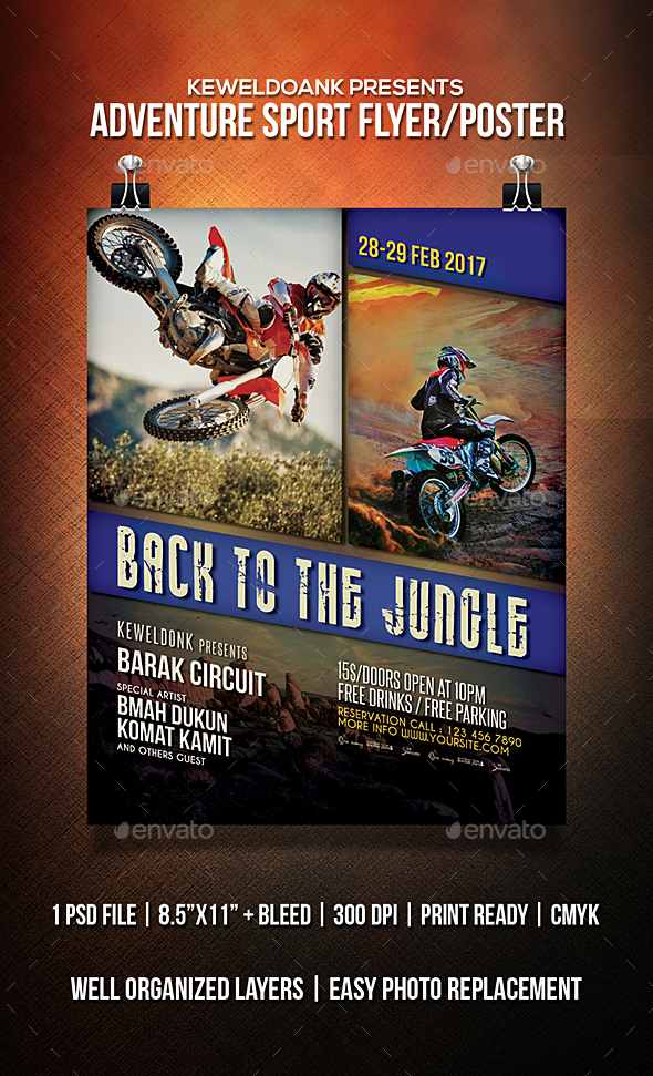 Adventure Sport Flyer / Poster - Sports Events