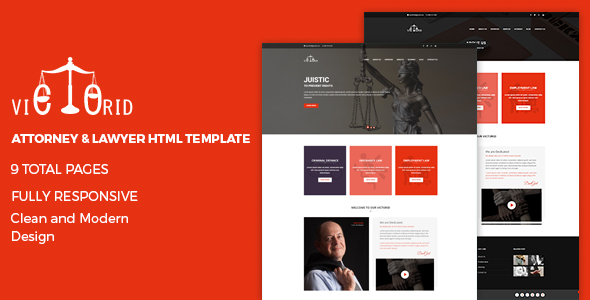Victorid – Attorney & Lawyer HTML5 Template