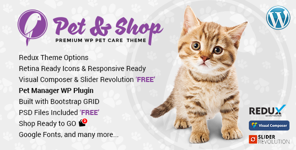 Pet & Shop   Pet Care WordPress Theme