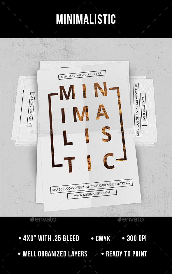 Minimalistic - Flyer - Clubs & Parties Events