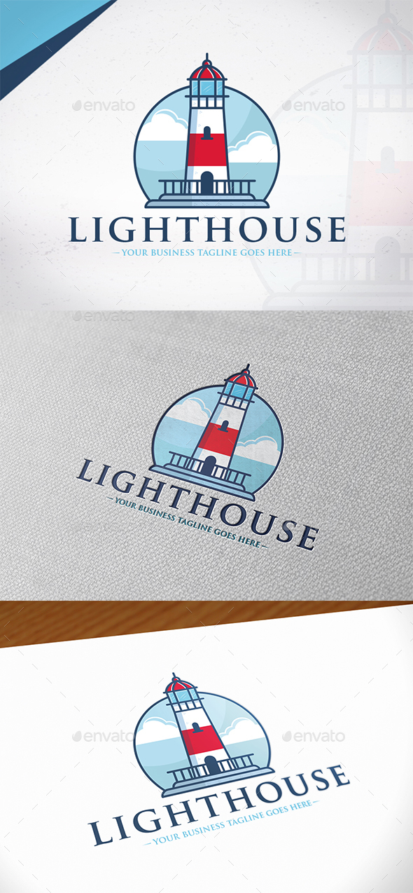 Emblem Lighthouse Logo Template - Buildings Logo Templates