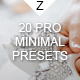20 Pro Clean & Minimal Presets - GraphicRiver Item for Sale