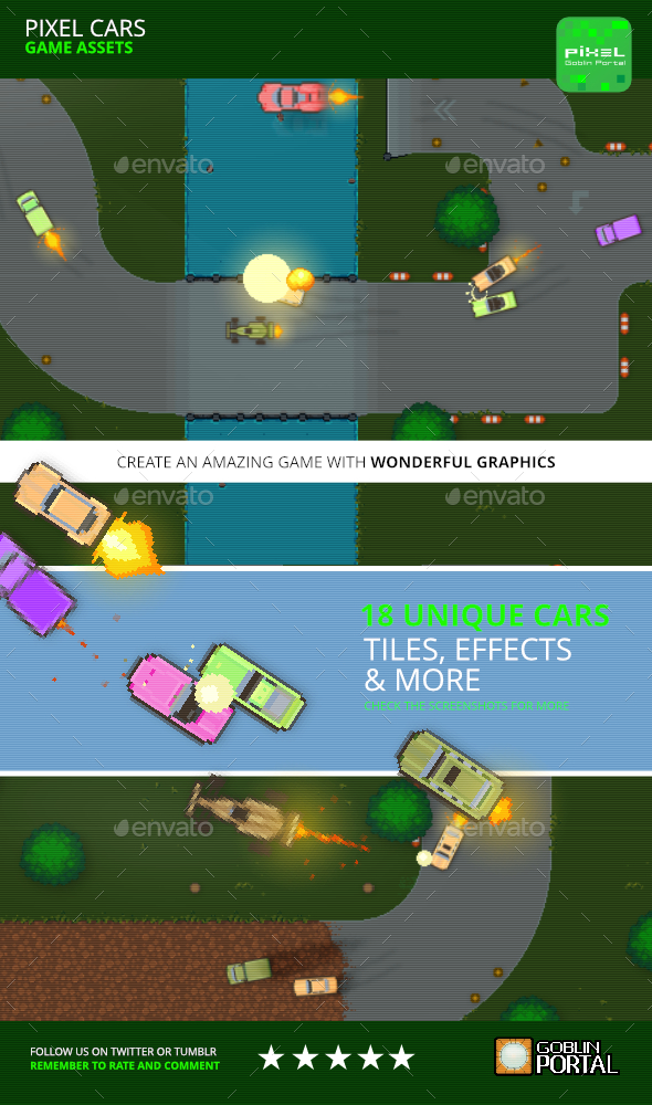 Car Game Set - Game Kits Game Assets