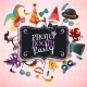 Photo Booth Party Background - GraphicRiver Item for Sale