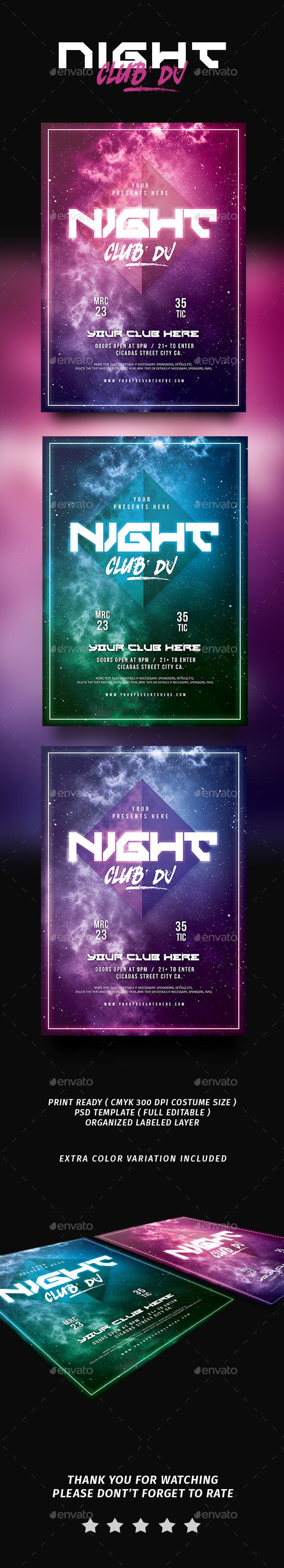 Night Club DJ Flyer - Flyers Print Templates