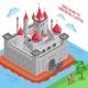 Middle Ages European Royal Castle Composition