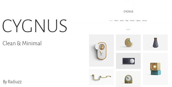 Cygnus – Clean and minimalistic portfolio theme