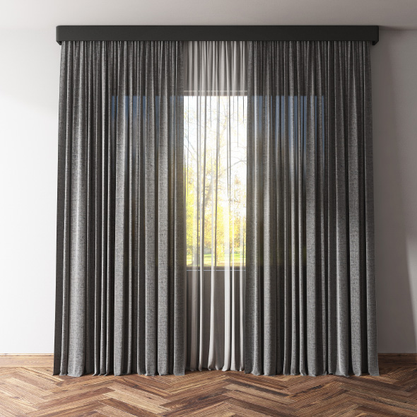 Curtains and tulle - 3DOcean Item for Sale