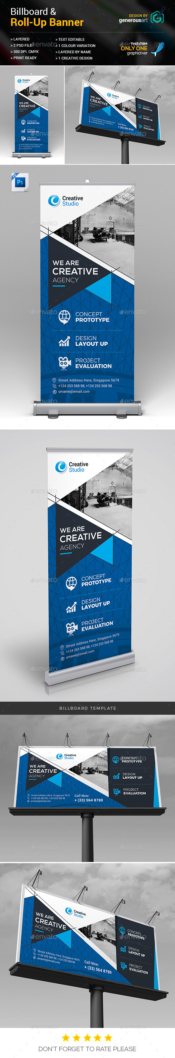Billboard & Roll-Up Banner - Signage Print Templates
