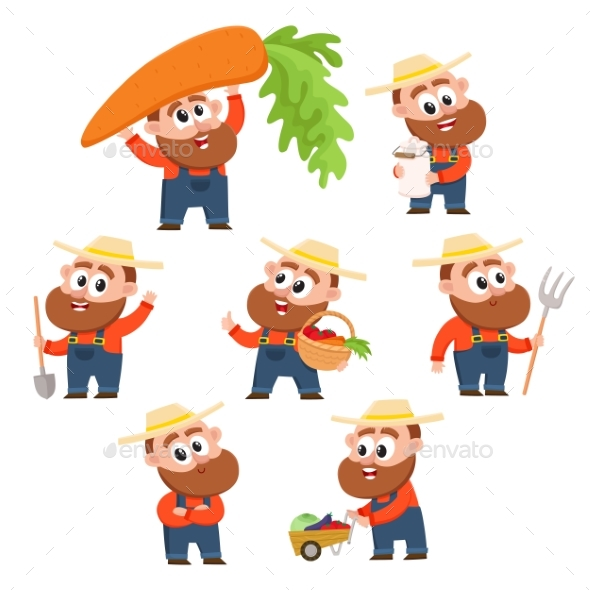Farmer or Gardener Character - People Characters