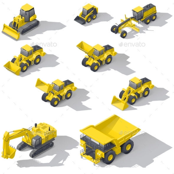 Career and Construction Transport Isometric Icon - Miscellaneous Vectors