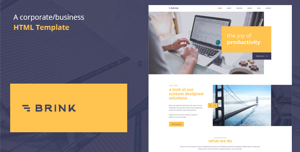 Brink – Creative Business HTML Template
