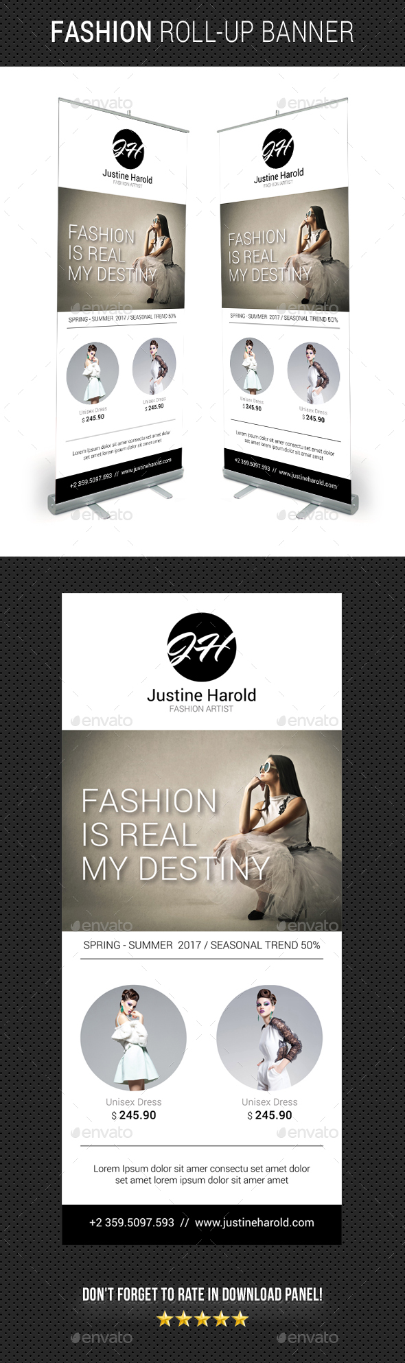 Fashion Roll-Up Banner 03 - Signage Print Templates