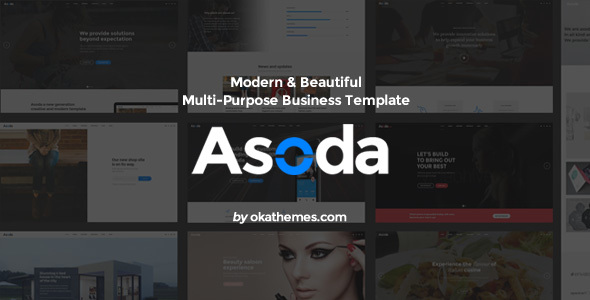 Asoda – Multi-Purpose Responsive Website Template