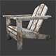 Old chair for garden - 3DOcean Item for Sale