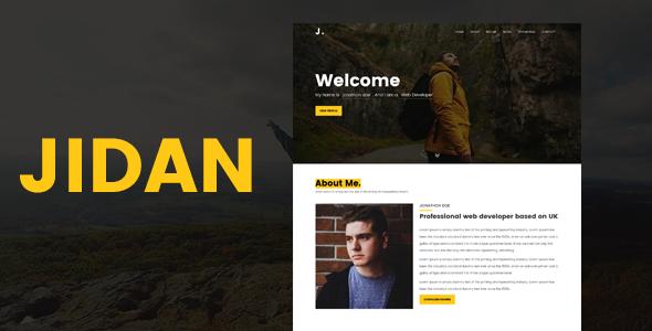 Jidan -Modern Personal Portfolio Template