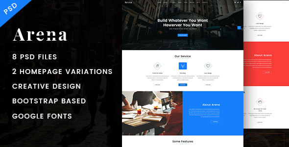 Arena - Business PSD Template - Corporate PSD Templates